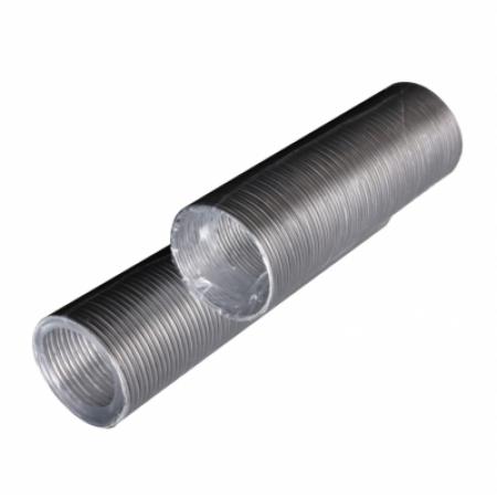 Воздуховод гибкий алюминиевый гофрированный (D-100мм, L- до 1,5м)